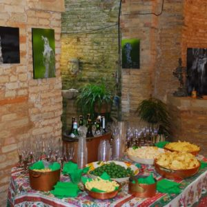 un particolare del cocktail di benvenuto.... - a detail of the welcome cocktail ....