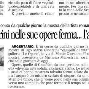 """article on """"il Tirreno"""""""