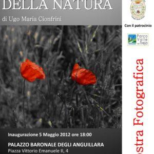 Locandina Mostra Palazzo Baronale degli Anguillara a Calcata in contemporanea con la mostra alla Galleria LE TELE TOLTE