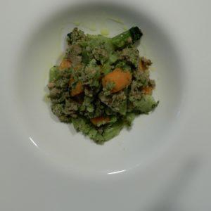 salsiccia e broccoli e carote