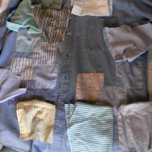 camicia ideata negli anni '80 e fatta cucire nel 2000 ... patchwork di camicie del passato la parte dove erano le cifre